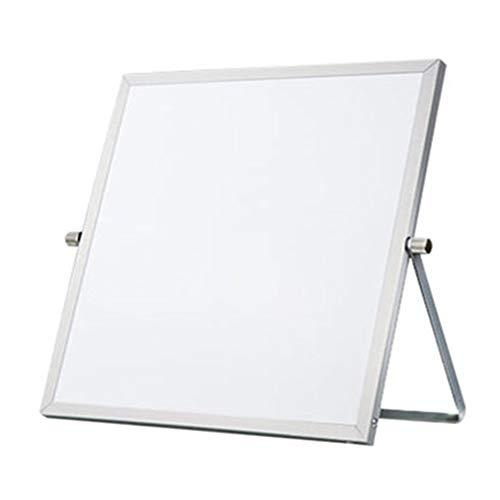 "Ozzptuu 10""x 10"" Desktop Small Dry Erase White Board Portable Mini Whiteboard Easel 360 Degree Reversible to Do List Notepad"