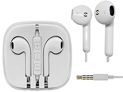 【2Pack】 MAS CARNEY Noise Isolating in Ear Earphones Headphones with Pure Sound and Powerful Bass Compatible with Samsung Huawei Honor Mi with Volume Control and Microphone