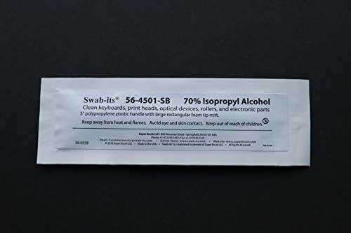 """Swab-its® 70% IPA Swabs 5"""" Large Rectangular Head Bag of 25 Swabs"""
