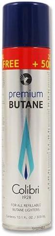 Gas para mecheros original Colibri Premium Butano para rellenar en tanques de gas, 400 ml