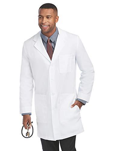 Barco Labcoats Men's 37 Inch 6 Pocket Lab Loose Back Belt, White, 36 (Barco Lab)