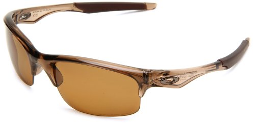Oakley Men's OO9164 Bottle Rocket Rectangular Sunglasses, Brown Smoke/Bronze Polarized, 62 mm