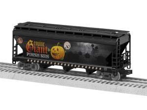 Tan Lionel 318704 Halloween ELX Lionscale 3-Bay Hopper Black Green Yellow O Gauge Orange