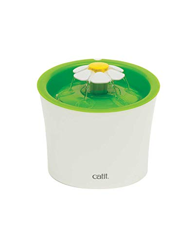 Catit Flower Fountain: 3L Cat Water Fountain with Triple-Action ()
