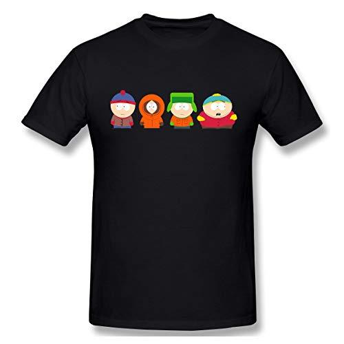 Thno Eric Cartman Kenny McCormick Butters Stotch South Park Men's T-Shirts 3XL Black]()
