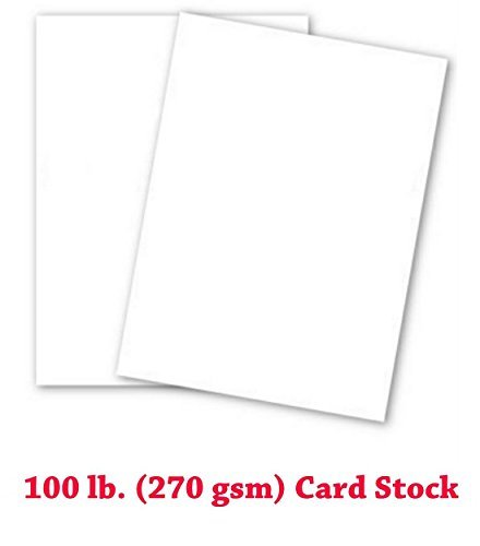 Extra Thick 100lb Cover White Cardstock - 50 Sheets (12-x-18-inch) [並行輸入品] B07K9T4S3R