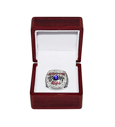 BRAD KESELOWSKI (Auto Club Speedway) 2015 AUTO CLUB 400 RACE WINNER Sprint Cup Series Rare Collectible Replica Silver NASCAR Championship Ring with Cherrywood Display Box
