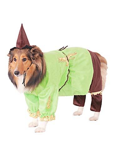 HalloCostume Wizard of Oz Scarecrow Dog Costume, Dog Costumes for Halloween -