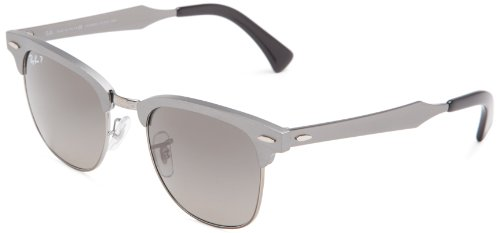 Ray-Ban CLUBMASTER ALUMINUM - BRUSHED GUNMETAL/GUNMETA Frame POLAR DARK GREY Lenses 51mm - Aluminum Bans Ray