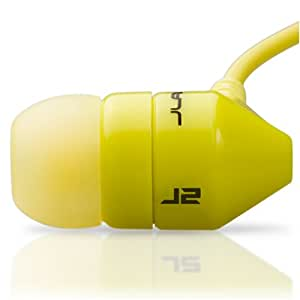 JBuds J2 Premium Hi-FI Noise Isolating Earbuds Style Headphones (Lambo Yellow) (Discontinued by Manufacturer)
