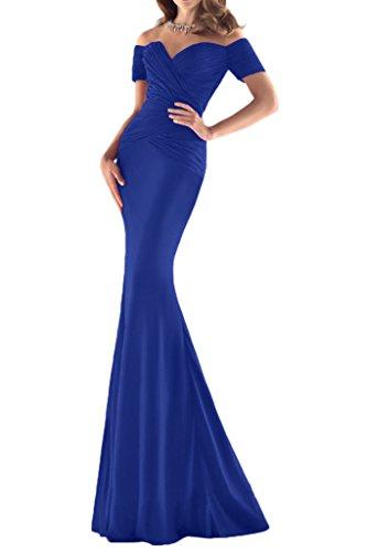 ivyd ressing Mujer sexuell corta aermel funda de línea vestido de fiesta Prom vestido para vestido de noche azul real