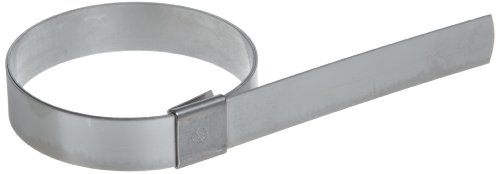 BAND-IT CP10S9 5/8'' Wide x 0.025'' Thick 2-1/2'' Diameter, 201 Stainless Steel Center Punch Clamp (Pack of 50) by Band-It
