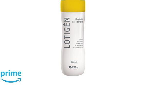 LOTIGÉN - Champú suave 100% natural de uso frecuente, diseñado para la higiene diaria del cabello. Champú con queratina, avena y vitaminas para cabello ...