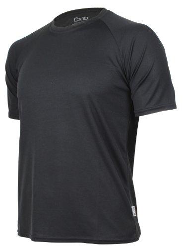 CONA BASIC - Unisex - Kurzarm Funktionsshirt in 24 Farbvarianten erhältlich M,Black