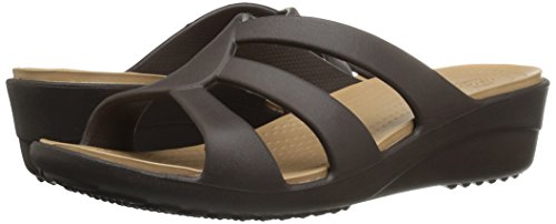 Bout Sanrah Crocs Expresso Sandales Wedge Strappy Ouvert Femme xIOqOd