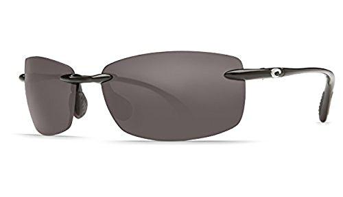 Costa Del Mar Ballast 50 Ballast, Shiny Black Gray Columbus-Mate, - Costa Ballast Sunglasses