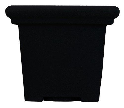 Akro Mils TES20000G18 20-Inch Terrazzo Square Pot, Black Onyx ()