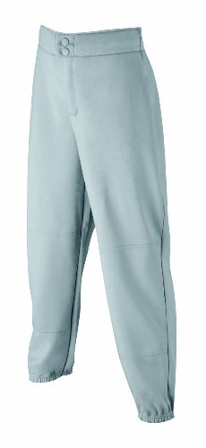 Wilson Women's (Low-Rise) Heavyweight Poly Warp Knit Softball Pant,  Grey, - Warp Heavyweight Pants Knit Poly