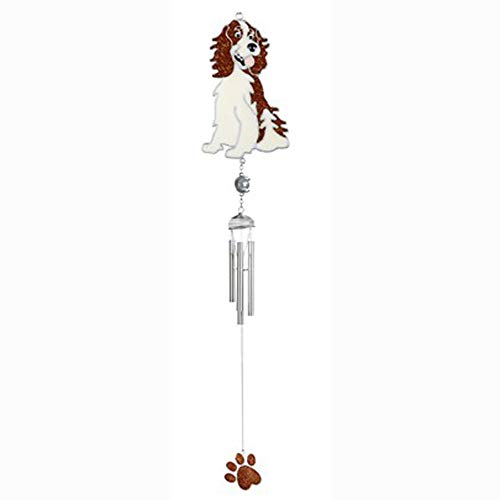 StealStreet SS-G-99442, Brown and White Springer Spaniel Hanging Paw Print Spring Wind Chime