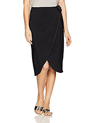 Star Vixen Women's Knee Length Sidetie Fauxwrap Skirt