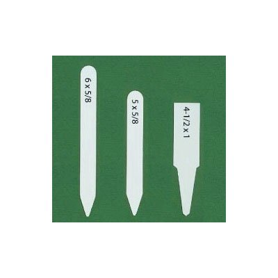 White Plastic Plant Labels, 6
