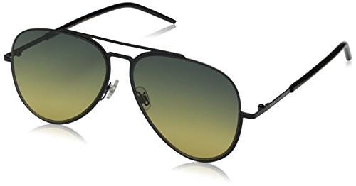 - Marc Jacobs Marc38s Aviator Sunglasses Black/Green Yellow 56 mm