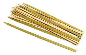 Artfinesse Bamboo BBQ Skewers Sticks Flat 9 Inch for Cooking Seekh Kabbs,Barbecue,Grilling,Roasting,Etc (Set of 25 Pieces)