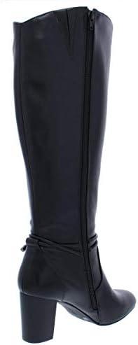 Alfani Mujeres Giliann Caña Ancha Punta Cerrada Botas de Moda, Black, Talla 8.5  28LQH