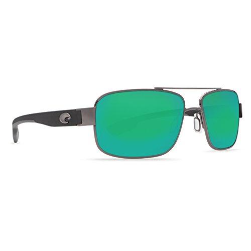 Costa Del Mar Tower Sunglasses Gunmetal w/Crystal Temples / Green Mirror 580P