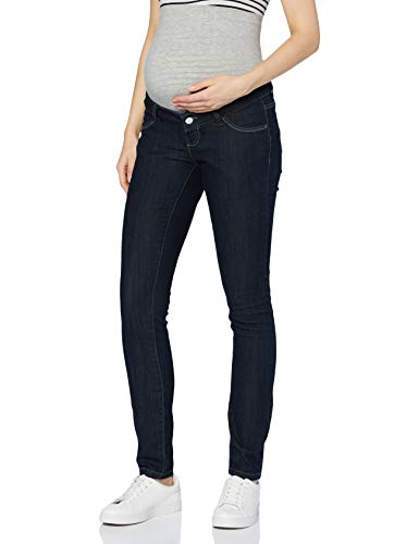 MAMALICIOUS Damen MLJULIA Unwashed Slim A. Jeans, Dark Blue Denim, 31/32
