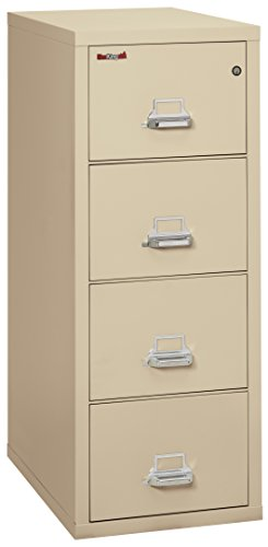 FireKing 42131CPA Insulated 4 Drawer Parchment