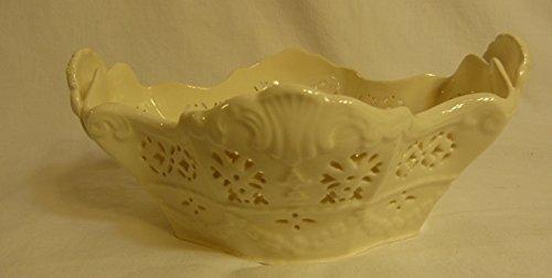 Pierced Basket (Fine Porcelain Oval Pierced Basket Hartley Greens & Co. Leeds Pottery England)