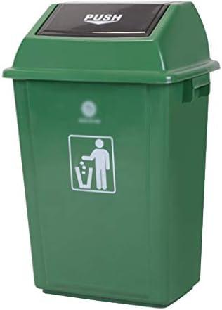 滑らかな表面 家庭用ゴミ箱、大型プラスチックキッチンリサイクルビンのホテルレストランKTVバー屋外用ごみ箱簡単に移動 リサイクル可能なデザイン (Color : Green, Size : 47*33*76CM)