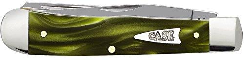 Case Cutlery 68870 Smooth Green Smoke Kininite Trapper Knife