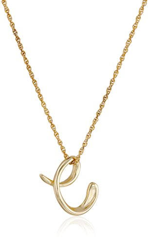 14k Gold Over Sterling Silver C Cursive Initial Pendant Necklace, 18