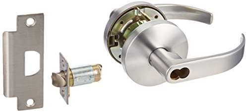 Falcon W511BD Q 626 (SFIC) W Series Grade 2 Medium Duty Cylindrical Chasis Non-Handed Lock, Entrance Function, Small Format Interchangeable Core, Quantum Lever, Satin Chrome Finish