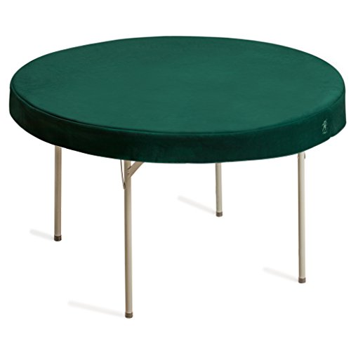 Yellow Mountain Imports Round Table Cover for Poker, Cards, Mahjong, Board Games, Dice Games, and Tile Games, Professional Grade, Green, 48 Inches