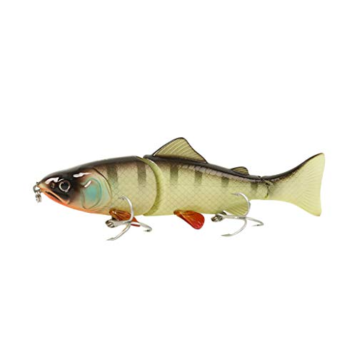 (FIged New 3-Section Boat Fishing Simulation Bait with VMC Strengthening Hook,Strong and Durable. Trident Structure, Stable and Reliable)