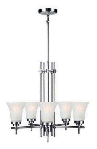 - Lite Source LS-19945SS/FRO Bendek 5-Lite Ceiling Lamp, Satin Steel