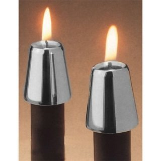 - 2 Piece Follower Candle Holder Color: Pewter