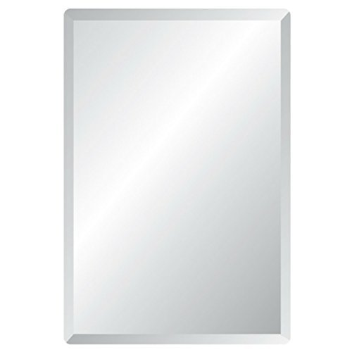 Amazon Com 20 X 30 Rectangle Frameless Bevel Wall Mirror Beauty