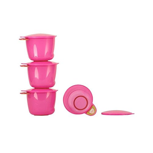 Vital Baby Prep And Go Food Pots, Pink 4 per pack - Pack of 6