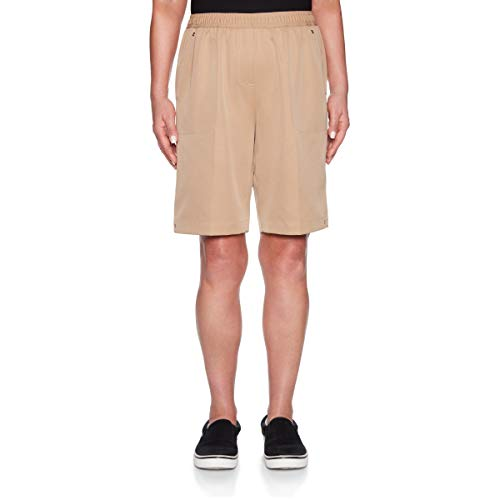 Alfred Dunner Women's 2019 Classics Pull-On Shorts (14, Tan)