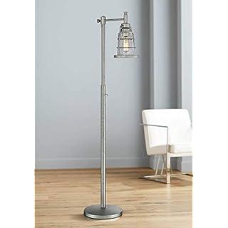 Averill Park Industrial Downbridge Galvanized Floor Lamp - Franklin Iron Works