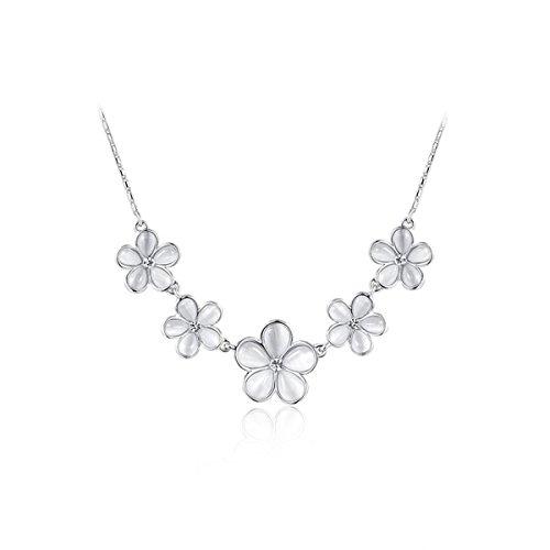 [AROUND 101 AAA Zircon Unique Platinum 18K Gold Five Rose Gold Bauhinia Pendant Necklace (C1)] (Paris And Helen Costumes)