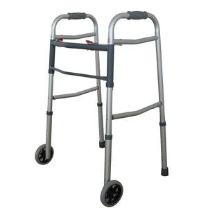 ZCH1060EA - Dual Button Folding Walker with 5 Wheels
