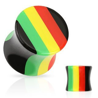 All Rasta Stripe Saddle Plug
