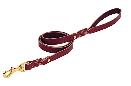 Heritage Twisted Latigo Leather Leash 3/4