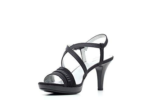P615810DE Black cuir Sandale pour article Nero femme talon P6 en haut 15810 DE Giardini 100 qgx5BwzP