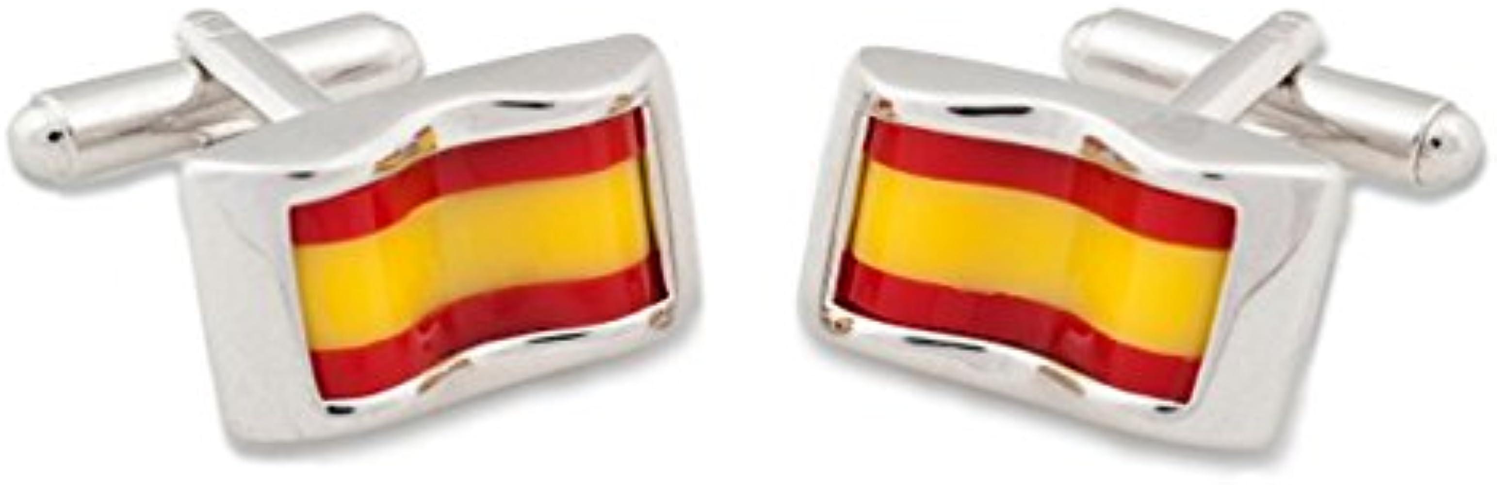 SoloGemelos - Gemelos Bandera España - Rojo, Amarillo, Plateado - Hombres - Talla Unica: SoloGemelos: Amazon.es: Ropa y accesorios